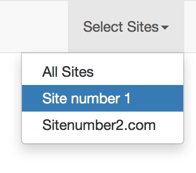 Laravel multi site multi tenant navigation bar illusatration