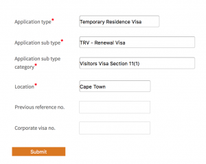 VFS Form - what to select