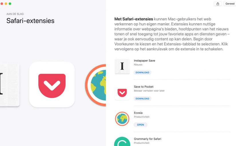 Beste Safari Extensies - App Extensies & Add-ons
