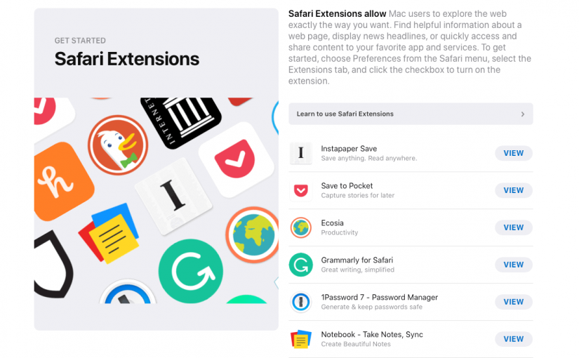 Best Safari Extensions